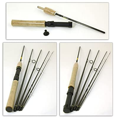 Bison 5 Section Travel Fly / Spinning Rod 8' #4/6 + Rod Tube from Bison