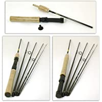 Bison 5 SECTION TRAVEL FLY/SPINNING ROD 8' #4/6 + ROD TUBE