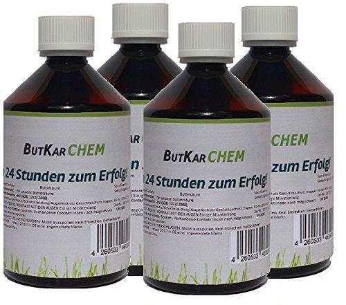 ButKarCHEM Art.4250 (4x250ml) Prime Varianten zu a 250ml Buttersäure Mindestens 99% (4X 250 ml)