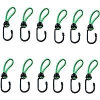 Timtina Expanderhaken versch Farben und Mengen (grün, 12 Stück Expanderhaken)