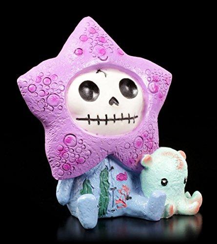 Furrybones Figur | Seestern Starfish mit Mini Krake | inkl. Geschenkbox für Sammler | Lustige Deko Totenkopf (Furry Kostüm Ideen)