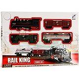 Trenino elettrico Realistico Lovomotiva 4 Vagoni RAIL KING