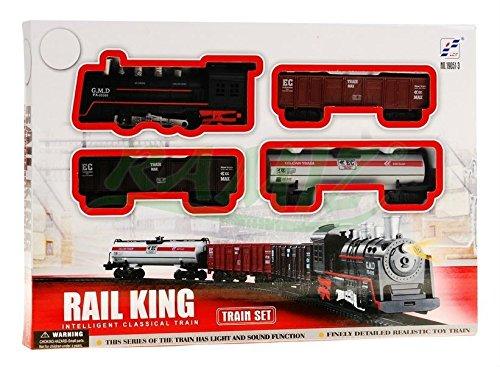 BSD Elektrisch Eisenbahn Set 4 Waggons Rail King