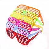 80er Schlitz-Sonnenbrillen, Party, Kostüm, Gastgeschenk, 12Stück, zufällige Farbe