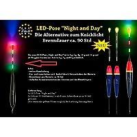 1x-LED-YAD-Posen-WAGGLER Night-and-Day- 4g 6g 8g 10g oder 20g-inkl-2-x-Stabbatterien-3V CR435
