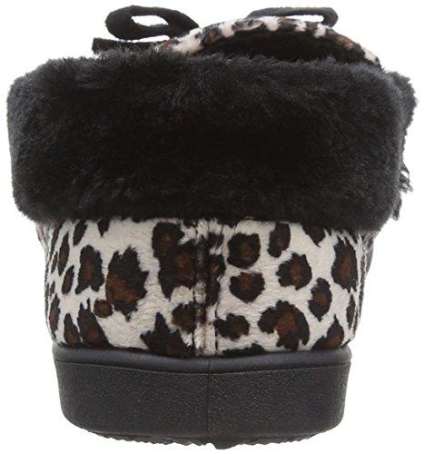 Dunlop Ladies Alaina Pantofole Beige (leopardato)