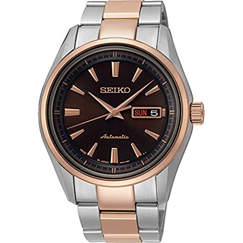 Seiko Gents Automatic Rose Gold Bracelet Watch