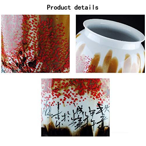 IG Moderne Einfachheit Bodenvase Keramik große handbemalte Jiangnan Frühling italienischen Pfeil Hotel Wohnzimmer Blumenschmuck dekorative Ornamente,2 (Abendessen Dekorationen Italienisches)
