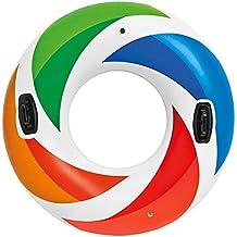 Intex - Rueda hinchable con asas, diámetro 122 cm, multicolor (58202NP)