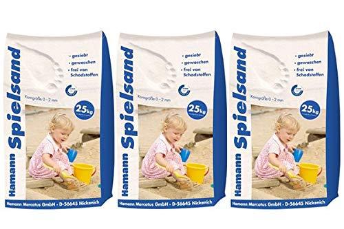 Hamann Spielsand Classic 75 kg Sack - Qualitäts Quarzsand - gesiebt - frei von Schadstoffen - gewaschen