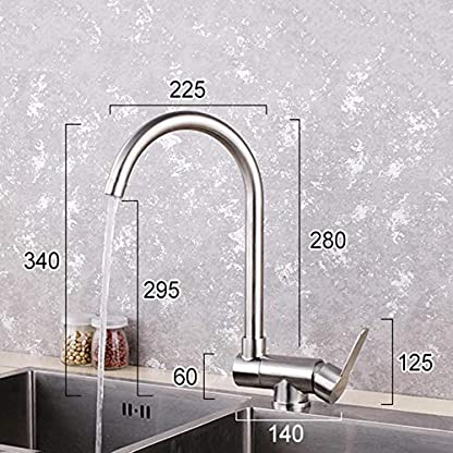 grifo cocina abatible ventana Cocina de acero inoxidable 304 grifo caliente y frío rotación plegable orificio único ventana interior fregadero fregadero lavabo grifo corto