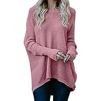 Damen Strickpullover,TWBB O-Ausschnitt Lose Pullover Einfarbig Sweater Lange Ärmel Herbst Winter Oberteile Bluse