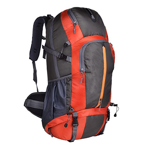 Yy.f Im Freien Bergsteigen Taschen 50L Männer Und Frauen Paar Rucksäcke Große Kapazität Rucksäcke Laptopfach. Multicolor Orange