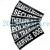 FidgetGear Patches Service Dog Therapy IN Training Label Tag für Hundegeschirr 2 Größen