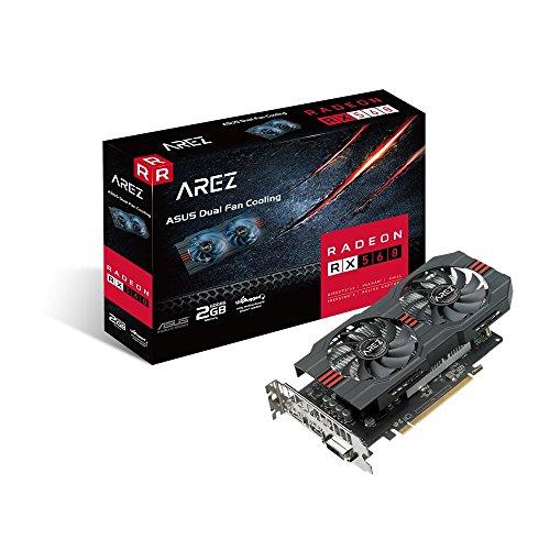 Asus Arez-PH-RX560-2G-EVO Gaming Grafikkarte (AMD, 2GB DDR5, DVI, HDMI, DisplayPort, Auto-Extreme-Technologie) (Grafikkarte 2gb Amd)