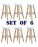 Navy Blue Furniture Lot de 6 Chaises de Bar Blanc Tabourets de Bar - Jasmine