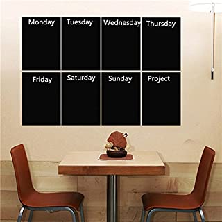 Tutoy 8pcs Black A4 Paper Chalkboard Wall Sticker Removable Blackboard With One Chalk Home Decal