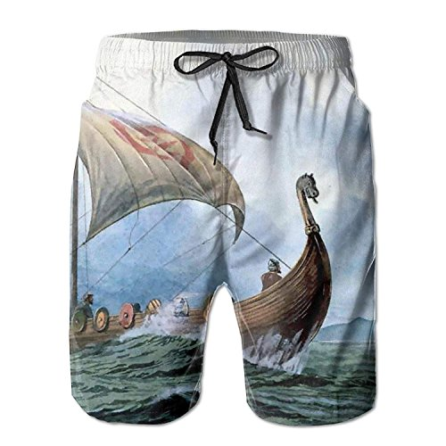 Cool Dragon Boat Summer Mens Quick-Drying Surf Trunks Beach Shorts