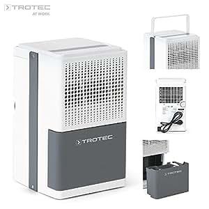 Trotec TTK 25E–Déshumidificateur, max de 10 l/24 h, pour pièces de 15m²/37m³, couleur : blanc