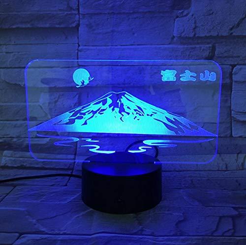 Berühmte Szenische Janpan Mount Fuji Usb 3D Führte Nachtlicht Touch Sensor Rgb Festival Geschenk Dekorative Lichter Schreibtischlampe Schlafzimmer -