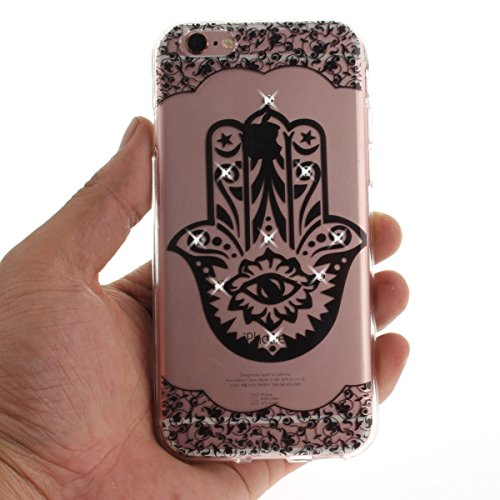 "MOONCASE iPhone 6 Plus/iPhone 6s Plus Coque, [Diamond Painting] Flexible Silicone Bling Housse Ultra Slim Anti-choc Protection Case pour iPhone 6 Plus/iPhone 6s Plus 5.5"" Dandelion Diagonal"