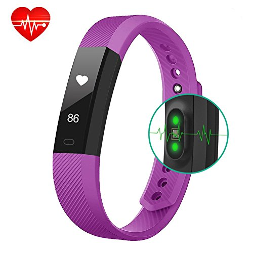 Fitness Tracker BigFox Fitness Bracelet Smart Watch Heart Rate Monitor Touch Screen Pedometer Wristbands Wearable Activity Tracker With Calorie Counter Step tracker Sleep Monitor Health Tracker for ladies kids men women