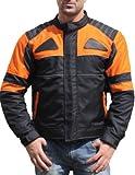 German Wear Textilien Jacke Motorradjacke Kombigeeignet Schwarz/Orange