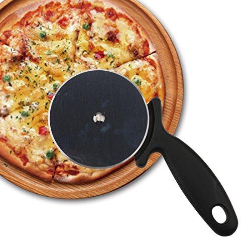 A-szcxtop rotella taglia pizza in acciaio INOX pasticceria pasta pasta Piegatore con impugnatura morbida per eccezionali Everyday Cooking