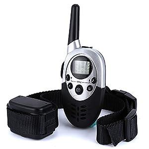 Collier de dressage de chien électrique rechargeable télécommandé sans fil avec écran LCD à portée de 1000 mètres, Pour 1 Chien