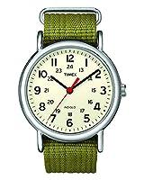 Reloj Timex Unisex  Special Weekender Slip Through, Verde (Verde/Beige)