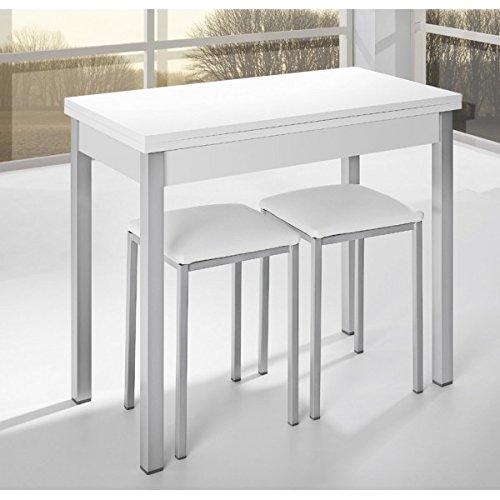 SHIITO Mesa de Cocina de 90x40 cm con Apertura Libro y Tapa de ...
