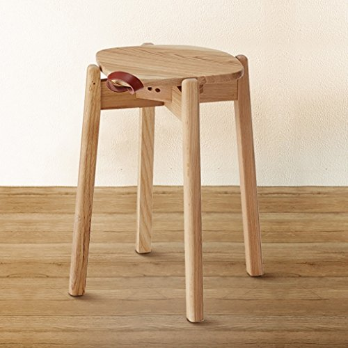 Bench Simple Modern Tang Round And Solid Retro Makeup Chairs Creative Oak Stools Stool Chao White Wood Fashion GMqpSUzV