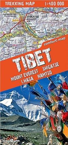 TIBET-MOUNT EVEREST/SHIGATSE/LHASA  1/400.000 par EXPRESSMAP POLSKA