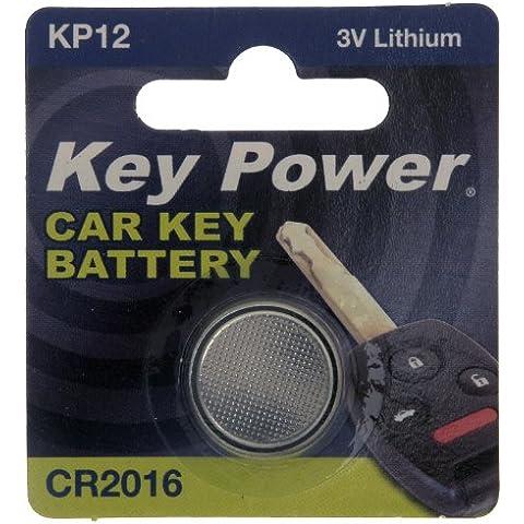 Key Power CR2016-KP - Pila de litio para llave de coche (3 V)