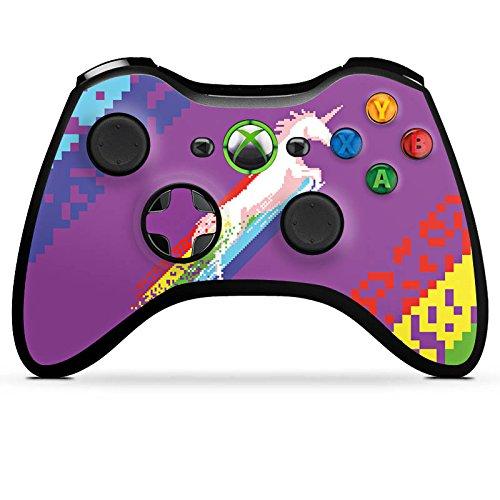 microsoft-xbox-360-controller-case-skin-sticker-aus-vinyl-folie-aufkleber-einhorn-unicorn-regenbogen