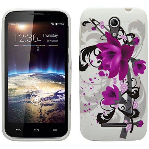 Vodafone Smart 4 Power TPU Gel Case - Violett Blume Silikon Tpu Gel Case Schutz Hülle Für Vodafone Smart 4 Power - thinkmobile