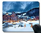 Yanteng Cojín de ratón del Juego, Estera del ratón del Hotel del Centro turístico de Austria del Invierno de la Nieve