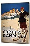 Cartello Targa in Metallo XXL Vacanza Agenzia Di Viaggi Località sciistica di Cortina D' Ampezzo