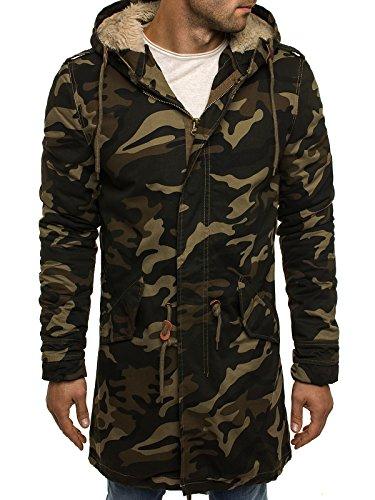 OZONEE Herren Winterjacke Wärmejacke Parka Camouflage Militärstil Armee Steppjacke Jacke Sportjacke Kapuzenjacke STEGOL 906