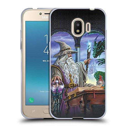 Offizielle Ed Beard Jr Botschafter Drachen Von Dem Zauberer Fantasie Soft Gel Hülle für Samsung Galaxy J2 Pro (2018)