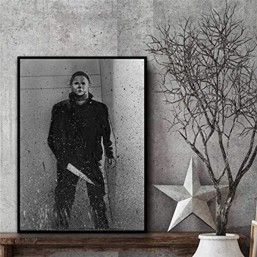 Michael Myers Halloween Horror Poster Und Drucke Leinwand Kunst Malerei Wandbilder Für Wohnzimmer Dekoration Wohnkultur 40X60 cm Ohne Rahmen
