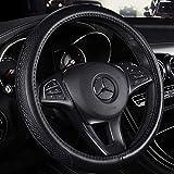 Weastion BMW Couvre volant en cuir véritable Série 5 Série 3 Série 2 Série 1 Série 7 Série 4 Série 6 Série X1 X3 X4 X5 X6 Cuir spécial Four Seasons Guidon confortable et antidérapant (Color : Black)