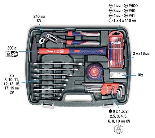 kwb Werkzeugkoffer 370730 (65-teiliger Inhalt, ideal für den ambitionierten Hausgebrauch, im praktischen Kunststoffkoffer) - 5