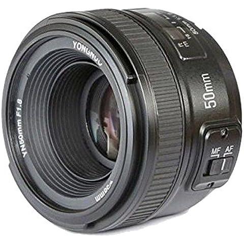 Boblov Yongnuo YN 50MM F1.8 Lente Objetivo Estándar Manual primer lente de enfoque automático AF MF (Apertura F/1.8) para