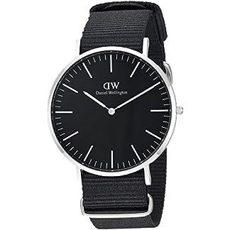 Daniel Wellington Reloj analogico para Unisex de Cuarzo con Correa en Nailon DW00100149