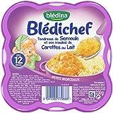 Blédina Blédichef Tendresse de Semoule et Son Mouliné de Carottes au Lait 230 g