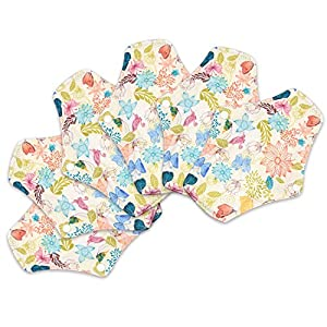 Reusable Bamboo Cloth Menstrual Sanitary Pads (5)