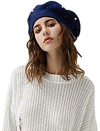 Baijiaye Boina Francés de Mujer Invierno Vasco Boinas de Lana Gorro Beret  Beanie Cálido Sombrero de 1f4fb2c16b7