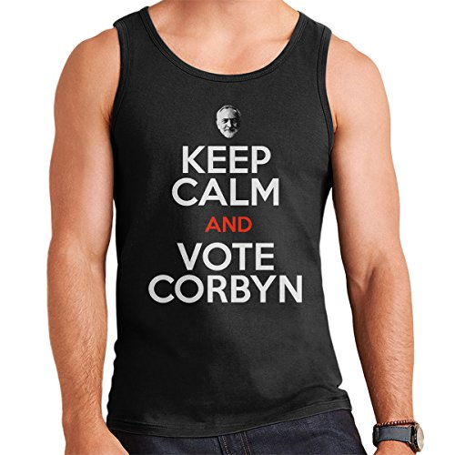 Keep Calm And Vote Jeremy Corbyn Men's Vest Black