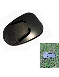 PolarLander 5 '' evitar el deslizamiento del retroceso Placa base del cojín de la motocicleta Negro Plástico pata de cabra lateral